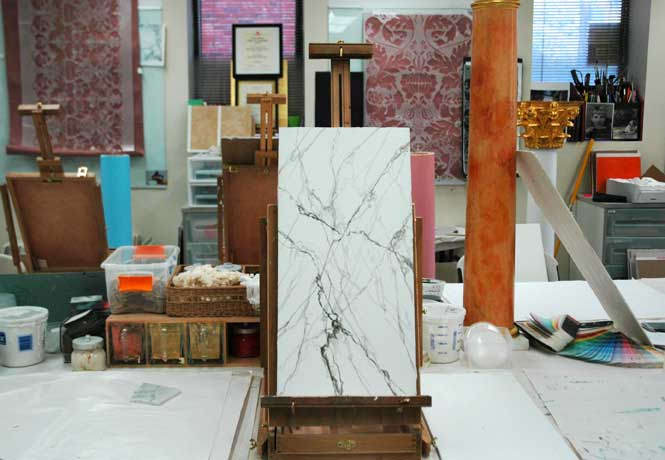 Venetian Plaster as Marble at Academy of Wall Artistry